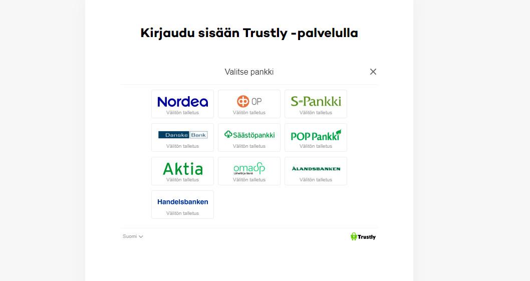 21.comilla rahansiirrot hoituvat kätevästi Trustlyn välityksellä