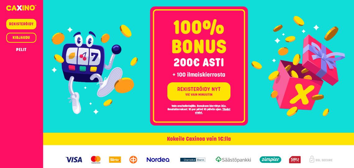 Caxino Casino bonus 1e talletus